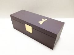 Coffee Flip box Cardboard Material Metal Plate Logo Embossed Spot UV Single Wine Box