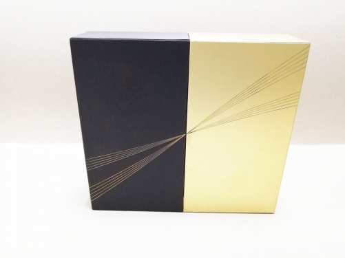 Luxury Black Golden Drawer Foil Stamping Cardboard Bottle Sliding Lid Custom XO Wine Glass Box