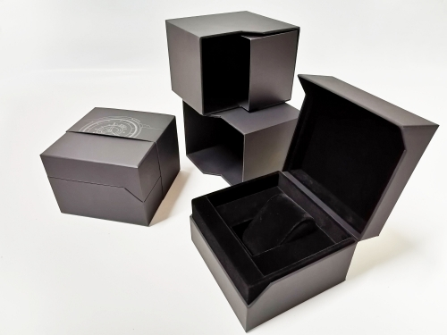 Deluxe hand made watch box luxury leather watch display storage gift box