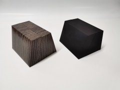 Wood grain PU leather Exhibition Watch box