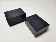 Custom Black Square Watch Box Branded fashion Watch Gift Packaging Box for Men