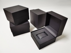 Hot Selling Black Plastic Single Watch Box Custom Logo Watch Gift Packaging Box
