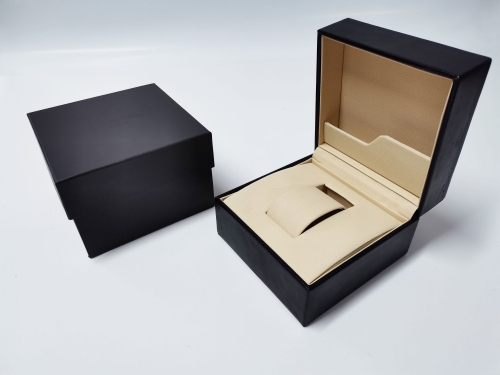 Black PU Leather Plastic moulding Watch box