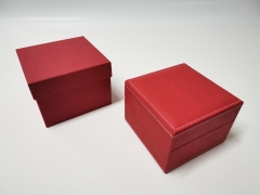 Red car line PU leather box gift display box