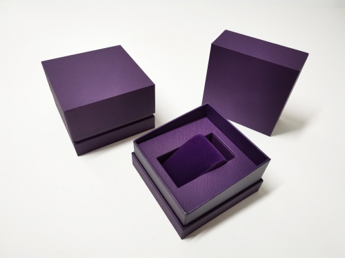 Violet Texture paper Square Watch box Gift box