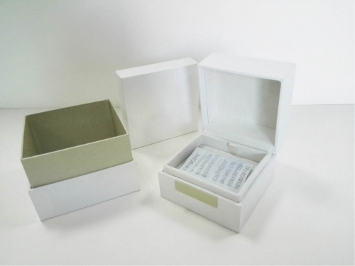 Luxury Jewellery Color Box Custom Logo Special paper White Bracelet Jewelry Box