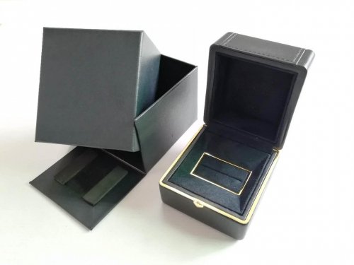 Wholesale Custom Logo Jewelry Box Packaging Gift Leather Ring Box