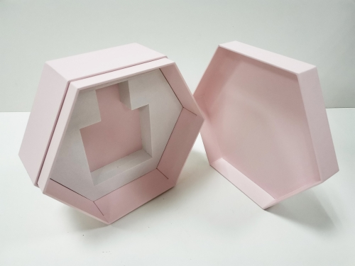 Hot sale Hexagonal printing paper EVA perfume box