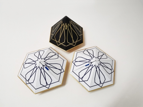 Hexagon diamond special design perfume box