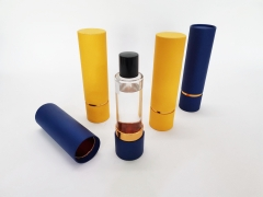 Luxury Cylindrical Paperboard Perfume Packaging Gift Round Paper Box