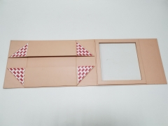 Pink printing paper color open window Folding gift box