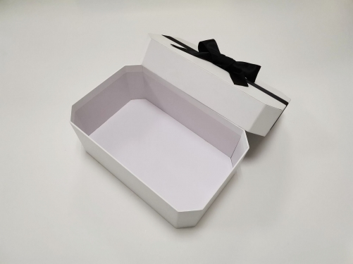 Popular Top and lid box octagonal bow makeup gift box