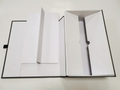 grey Special paper double wine glass bottle Foldablegift packaging magnetic boxes