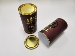 Custom logo cylinder type gift box round paper tube wine cardboard packaging gift boxes